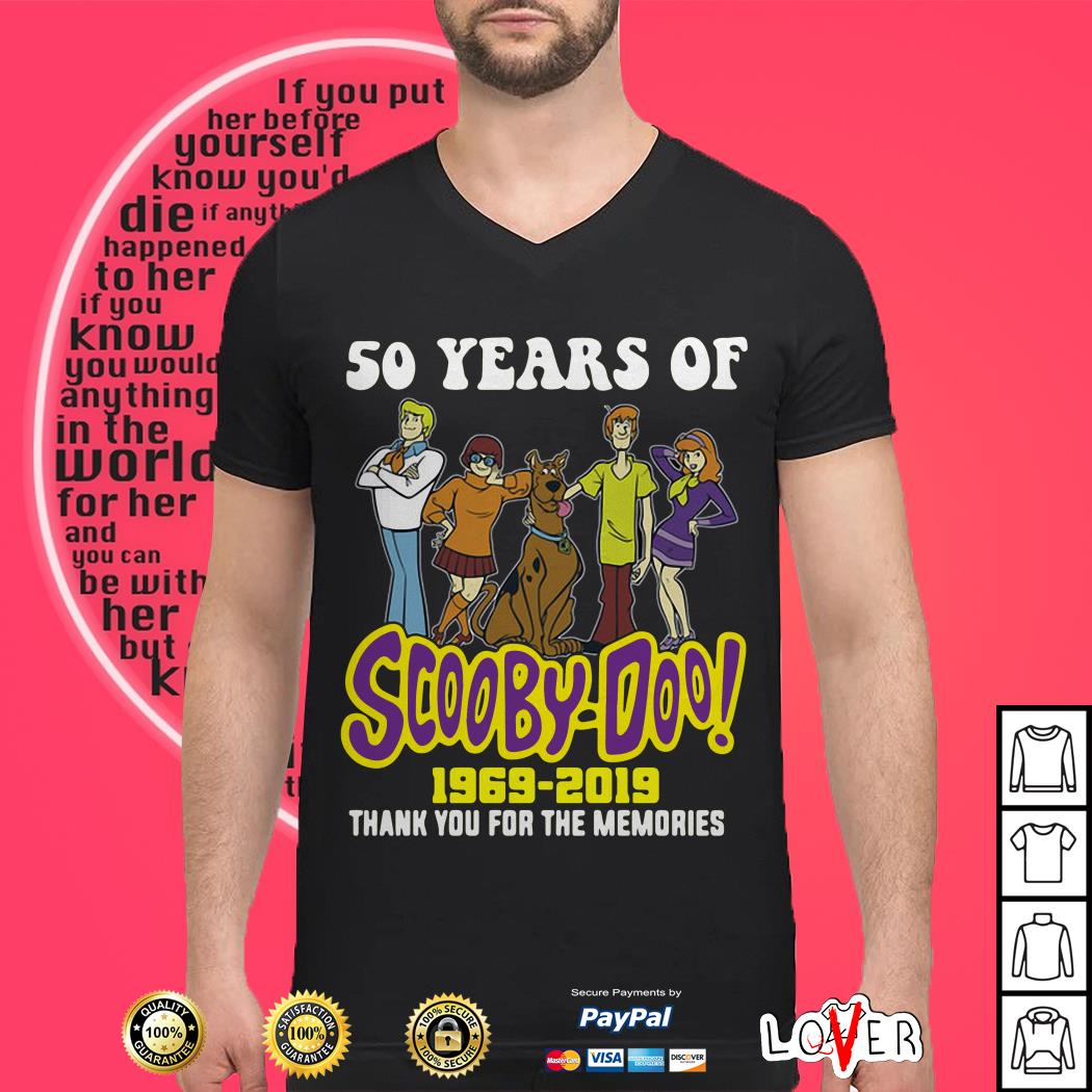 50 years of Scooby Doo 1969 2019 thank you for the memories shirt