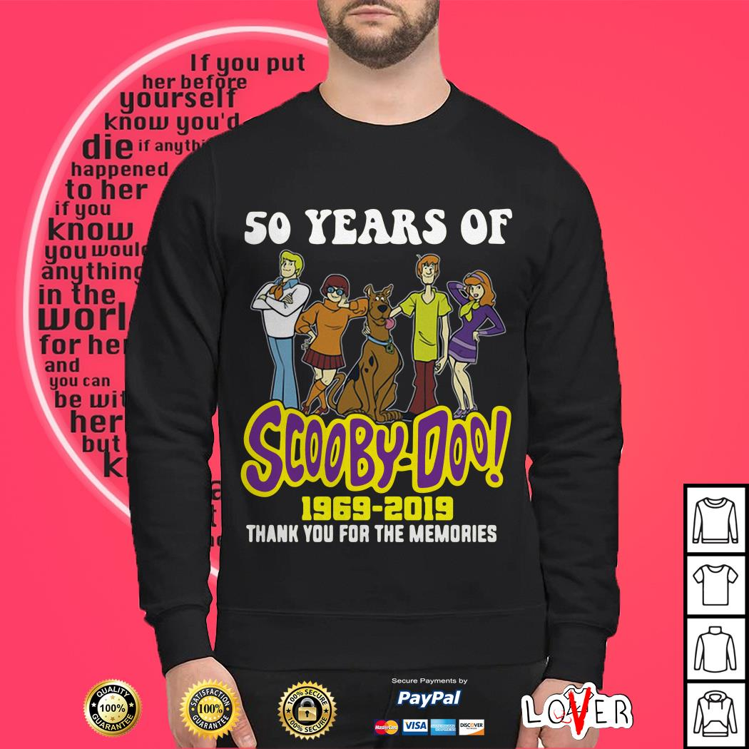 50 years of Scooby Doo 1969 2019 thank you for the memories Sweater