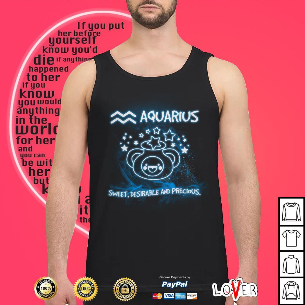 Aquarius sweet desirable and precious Tank top