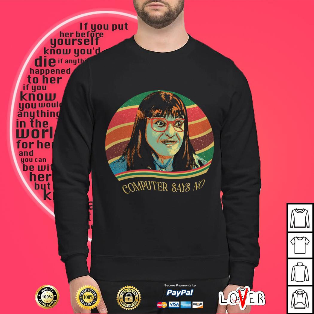 Carol Beer Computer says no vintage Sweater