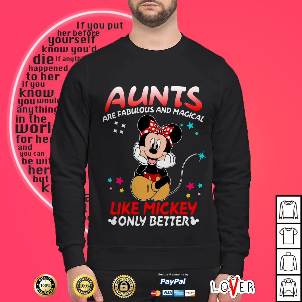 Disney aunts are fabulous and magical Like Mickey only better Sweater