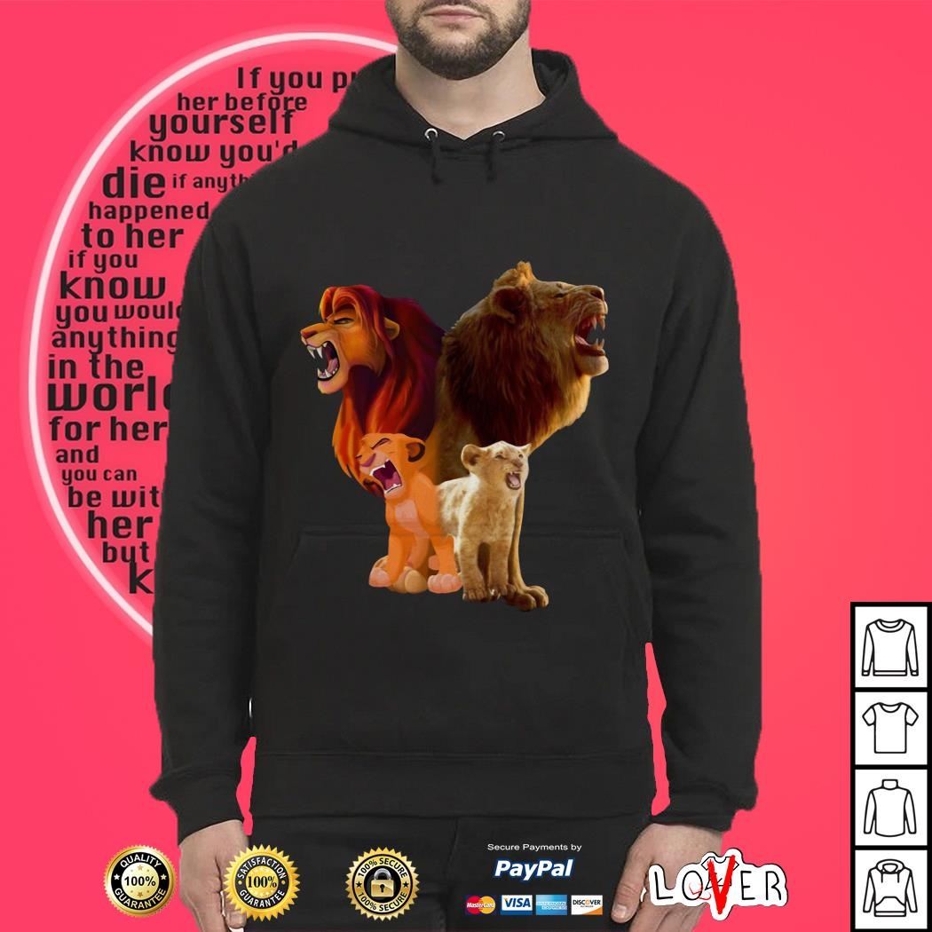 Disney Baby Lion and Adult Lion The Lion King 2019 Hoodie