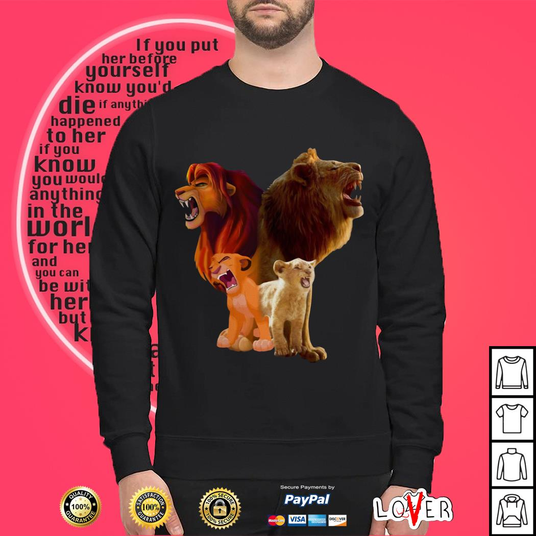 Disney Baby Lion and Adult Lion The Lion King 2019 Sweater