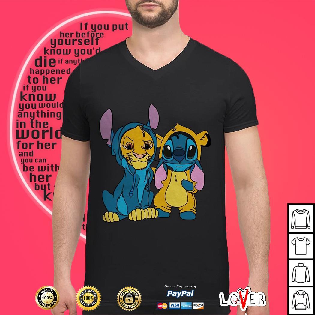 Disney The Lion King and Stitch shirt