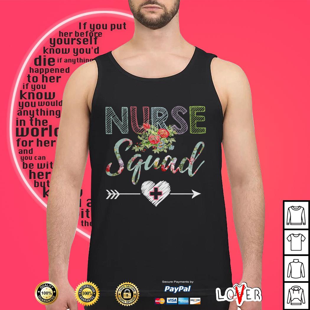 Flower registered nurse squad Tank top