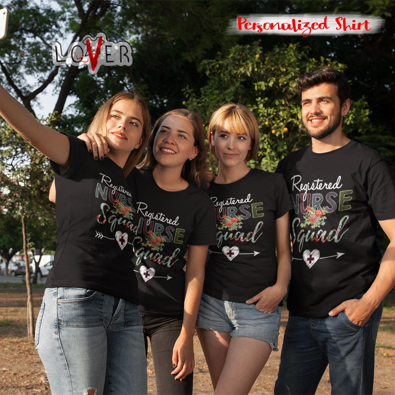 Flower registered nurse squad shirt