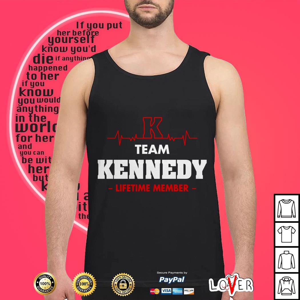 Heartbeat K team Kennedy lifetime member Tank top