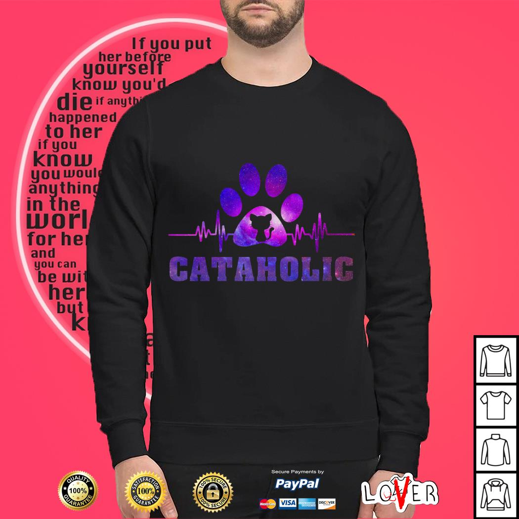 Heartbeat paw cataholic SweaterHeartbeat paw cataholic Sweater