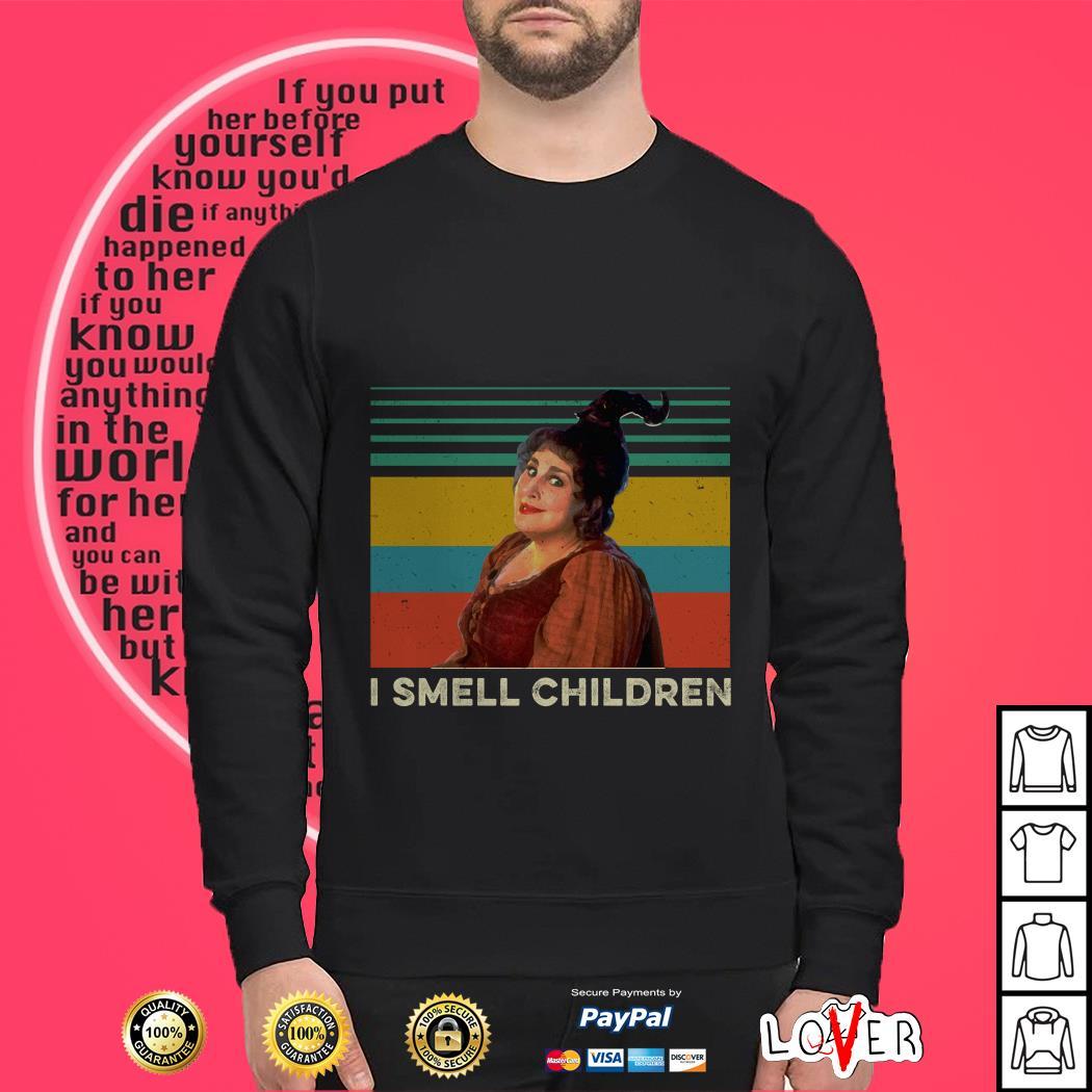 Hocus Pocus Witches I smell children vintage Sweater