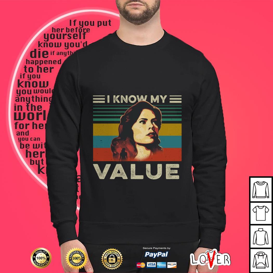 I know my value Marvel Agent Carter vintage Sweater