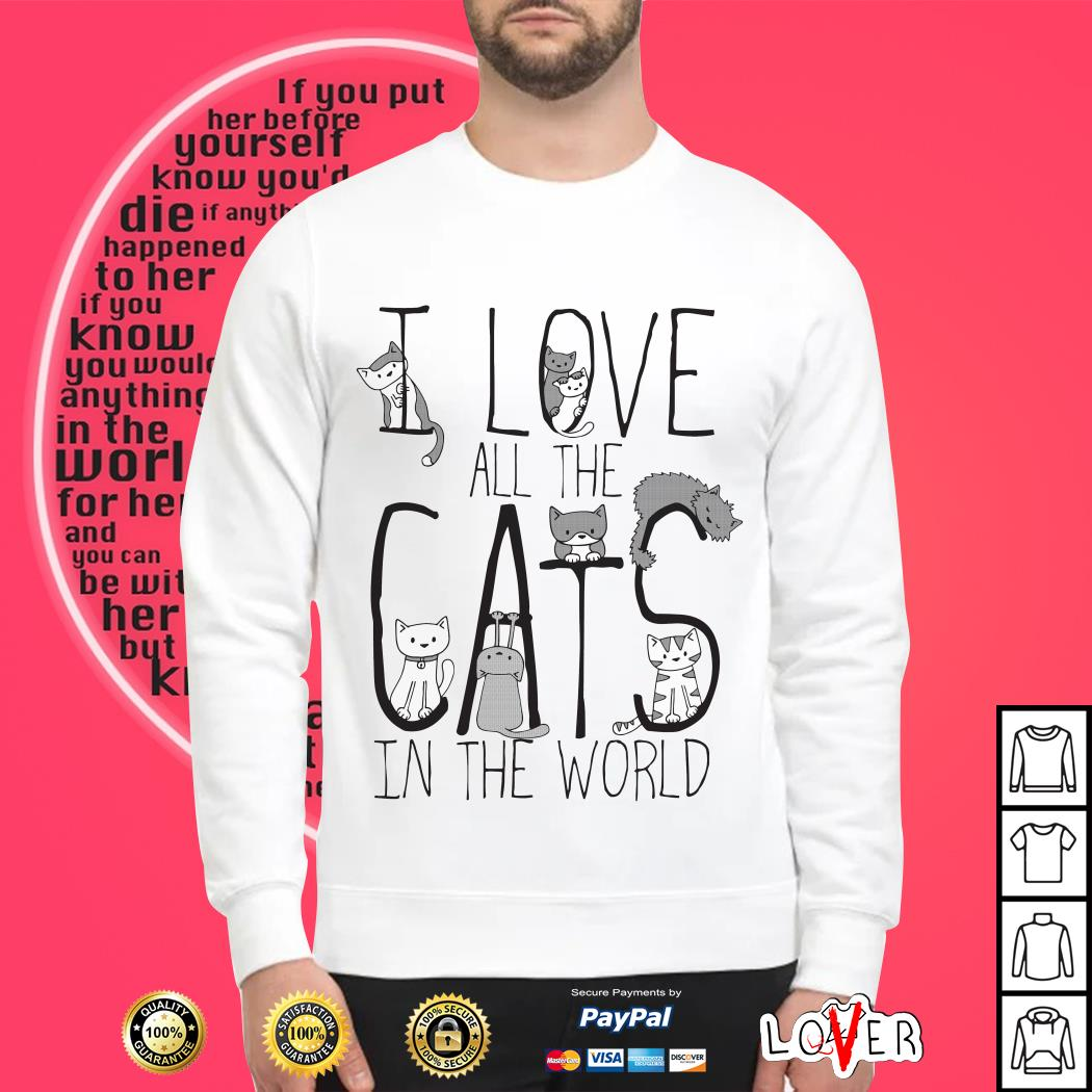 I love all the cats In the world Sweater