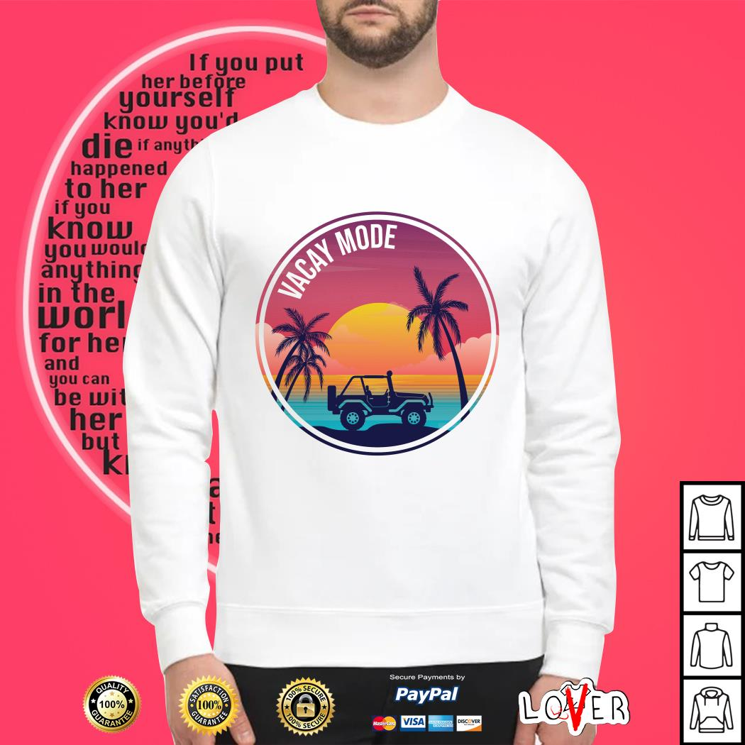 Jeep vacay mode summer Sweater