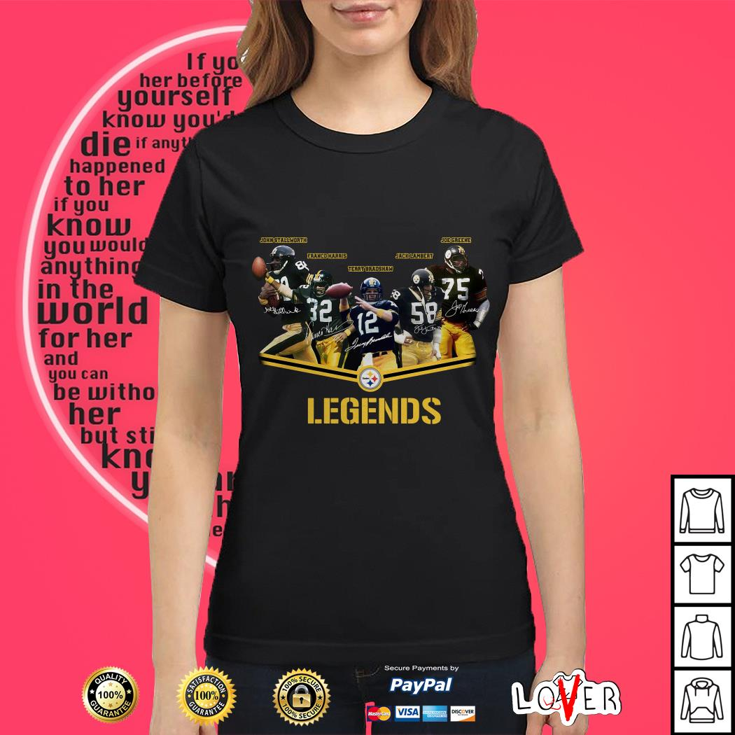 Legends Pittsburgh Steelers Logo Ladies tee