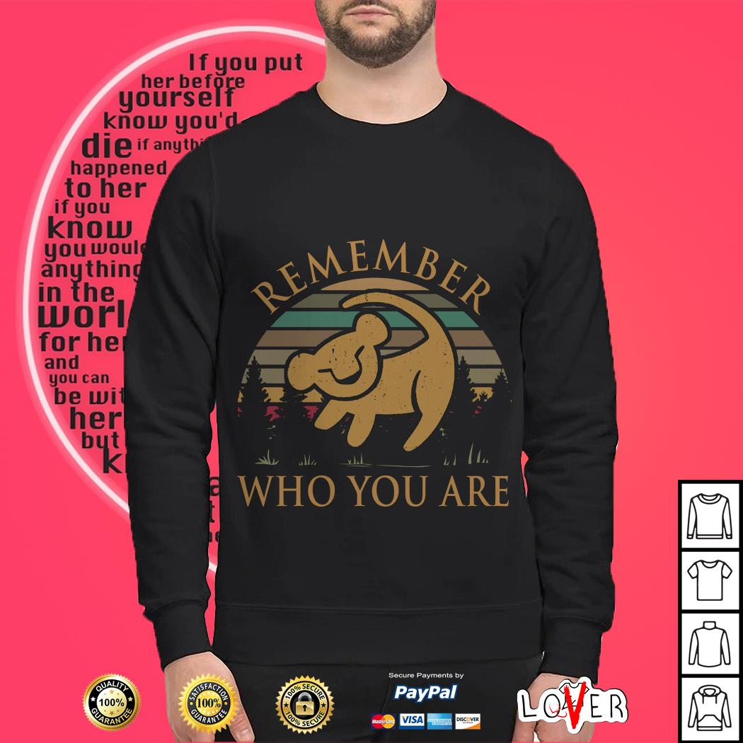 Official Lion King remember who you are vintage Sweater