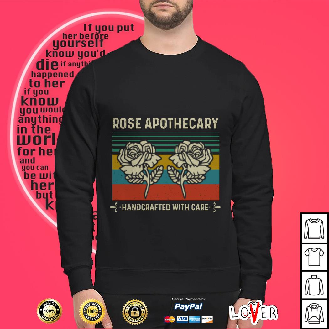 Official Rose apothecary handcrafted with care vintage Sweater