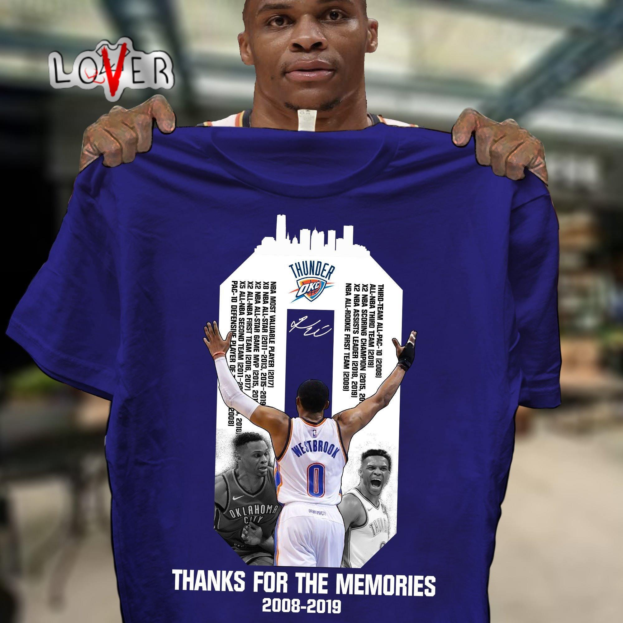 Oklahoma City Thunder thank You for the Memories shirt