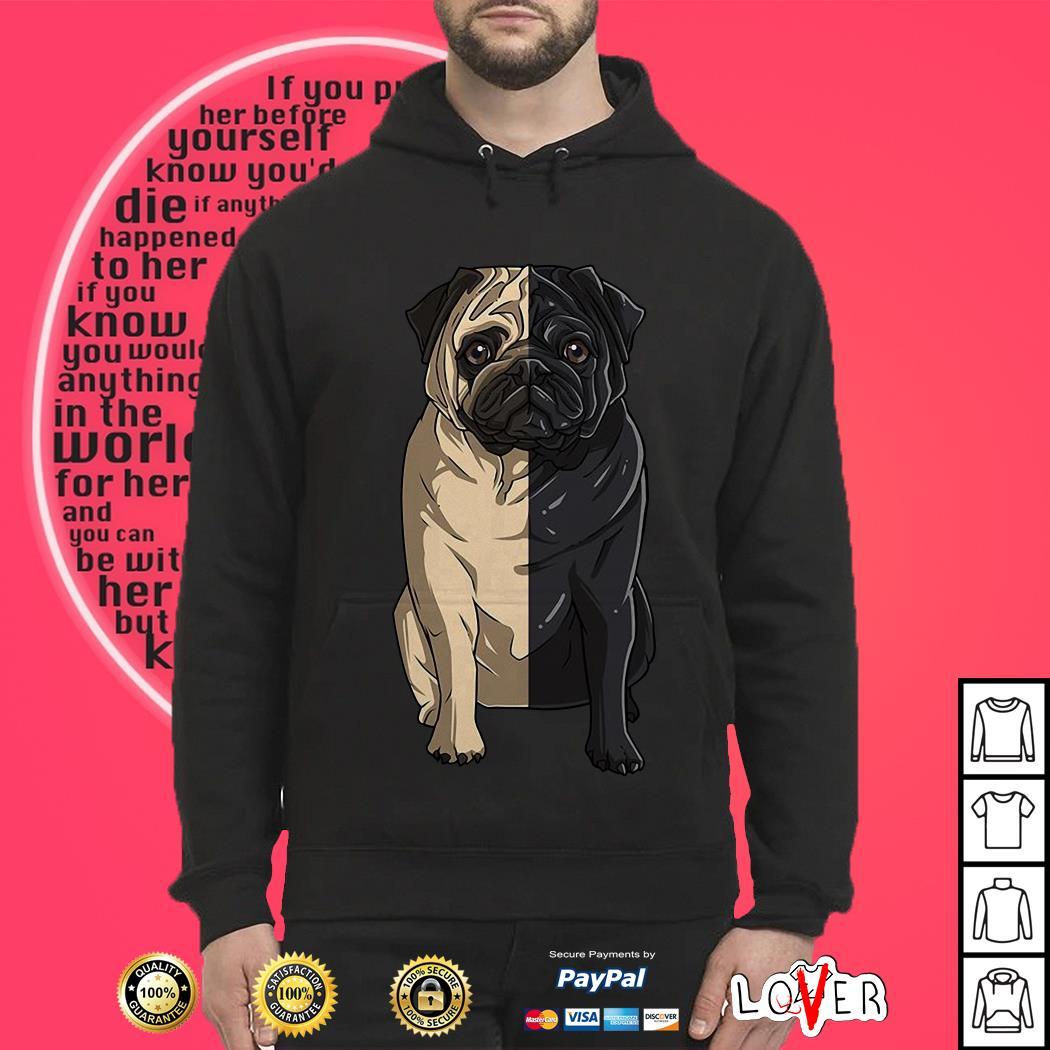 Pug light Pug dark Hoodie