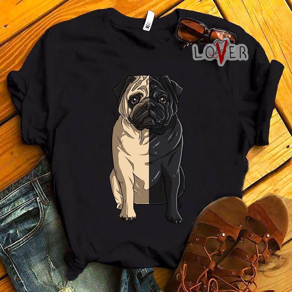 Pug light Pug dark shirt