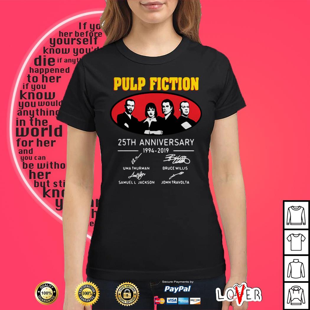 Pulp Fiction Anniversary 1994 2019 Signatures Ladies tee