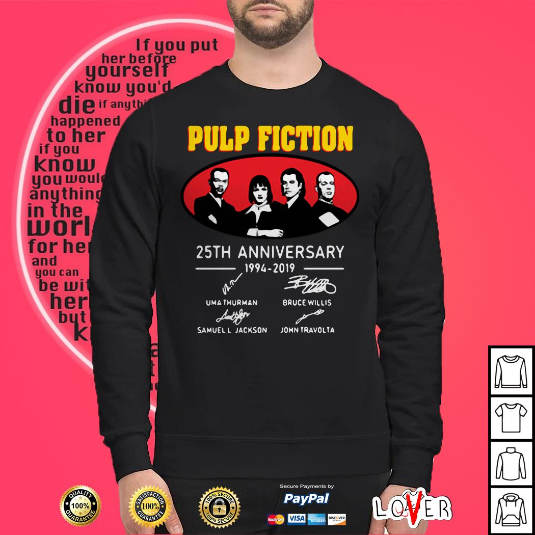 Pulp Fiction Anniversary 1994 2019 Signatures Sweater