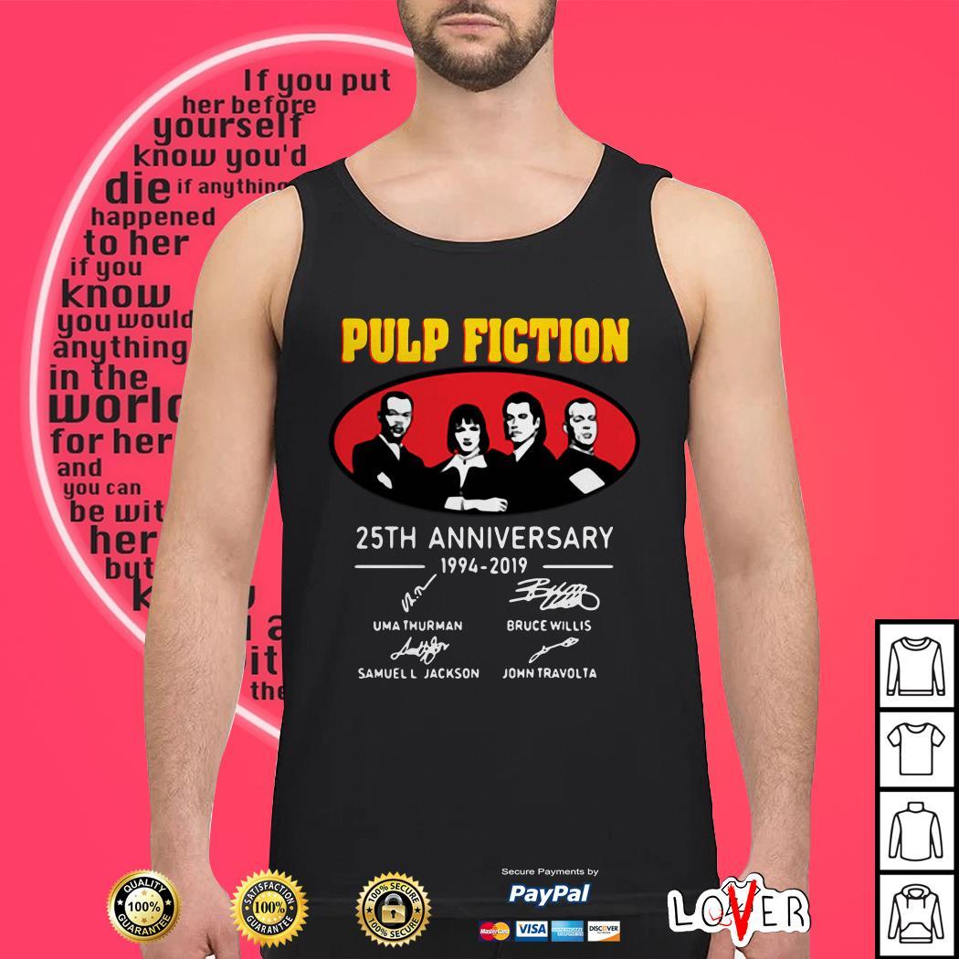 Pulp Fiction Anniversary 1994 2019 Signatures Tank top