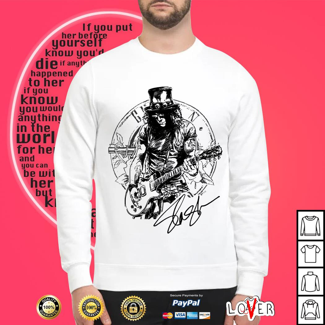 Slash Guns N' Roses Slash Top Hat signature Sweater