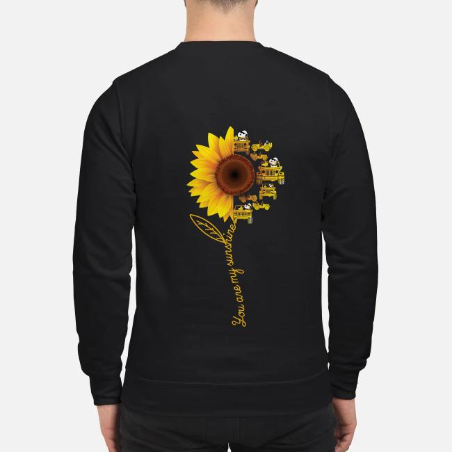 Snoopy and Woodstock jeep sunflower you are my sunshine Sweater