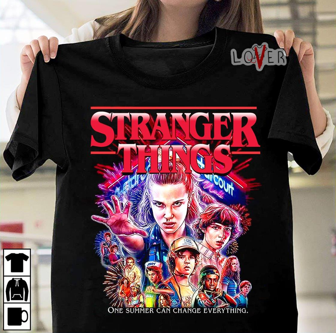 Stranger Things one summer can change everything shirt