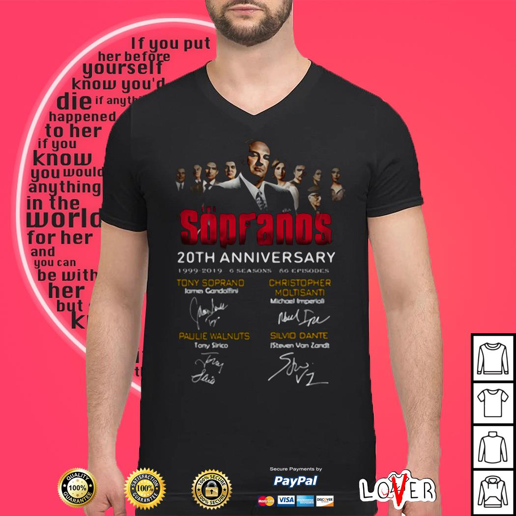 The Sopranos 20th Anniversary 1999 2019 Signatures Shirt
