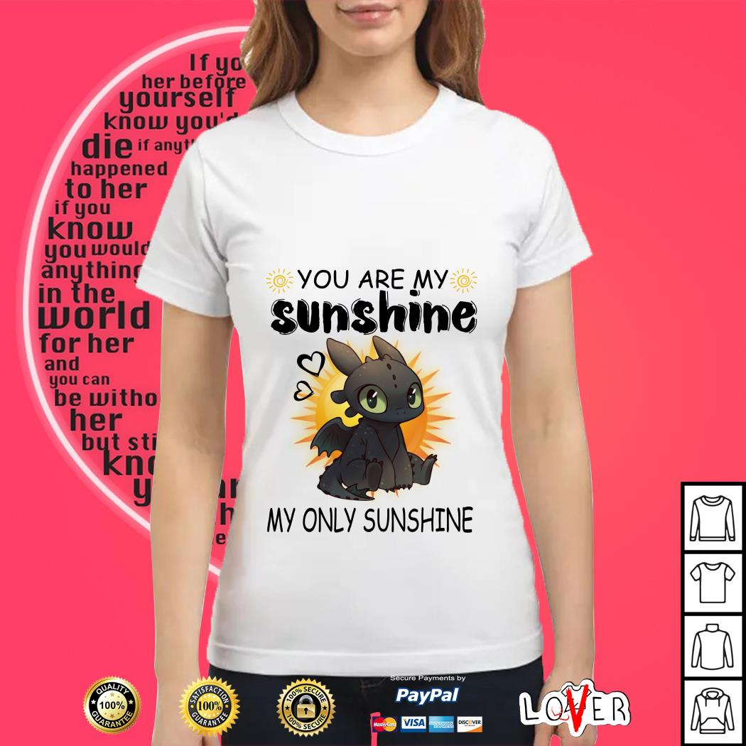 You are My Sunshine My Only Sunshine Toothless T-Shirt