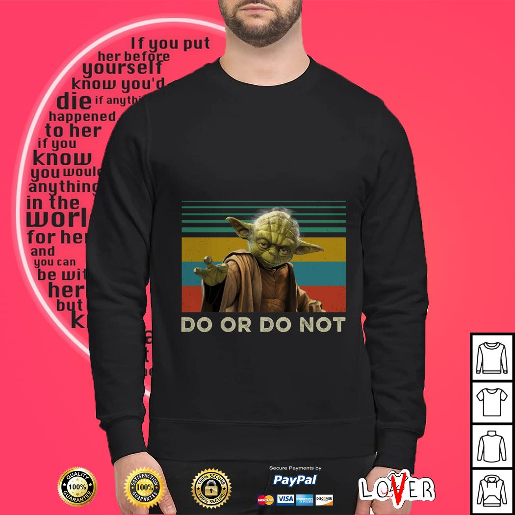 Yoda do or do not vintage Sweater