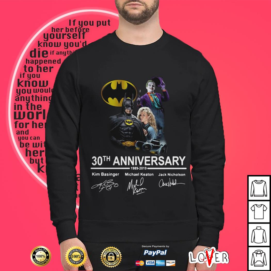 30th Anniversary Batman 1989-2019 Signature  shirt