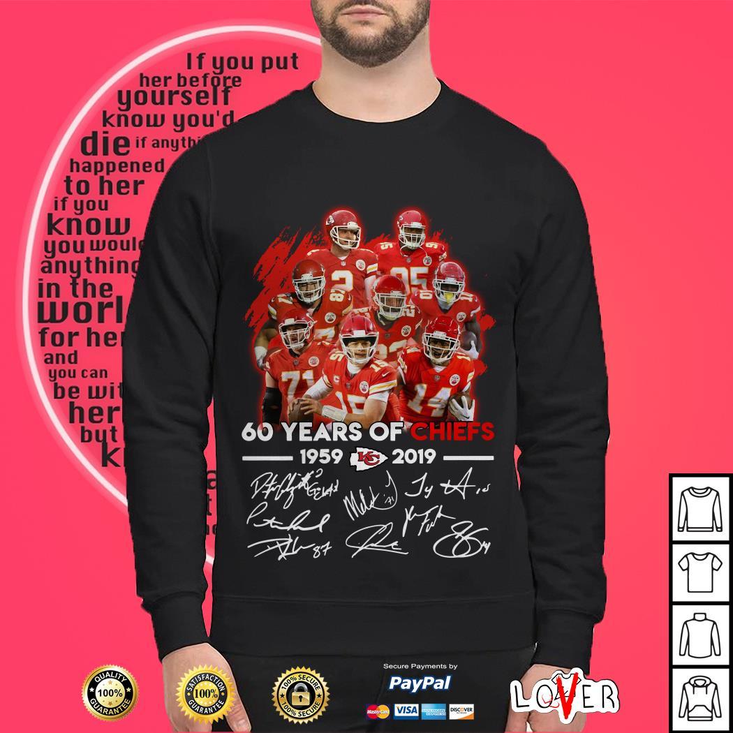 60 Years of Kansas City Chiefs 1959 – 2019 signature Sweater