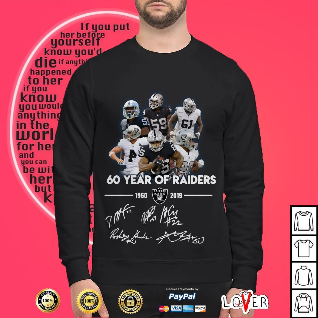 60 Years of Oakland Raiders 1960-2019 signature Sweater