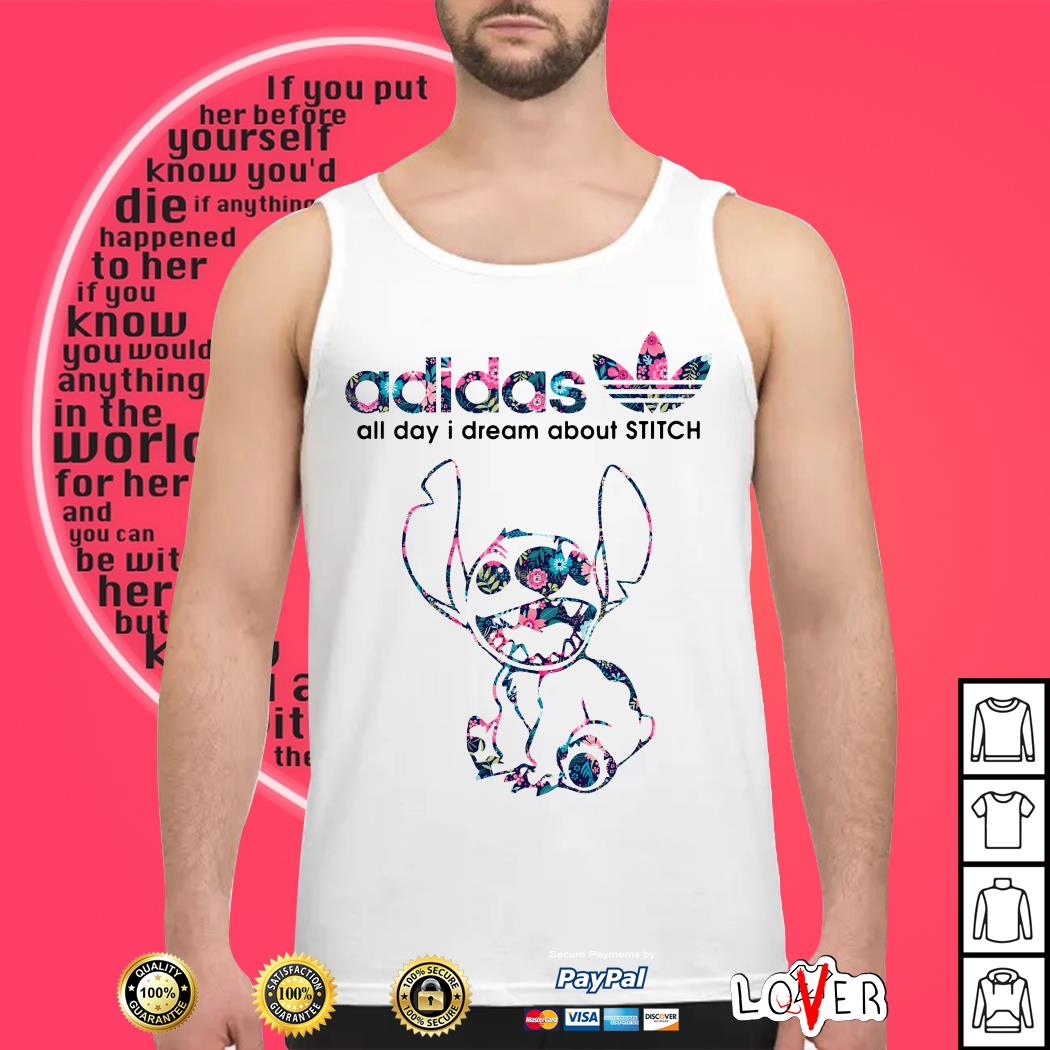Adidas all day I dream about Stitch Tank top