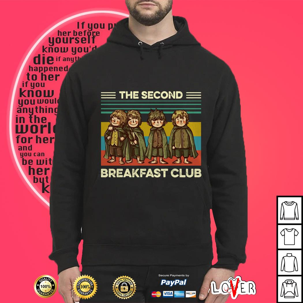 The Fellowship The Second Breakfast Club vintage HThe Fellowship The Second Breakfast Club vintage Hoodieoodie