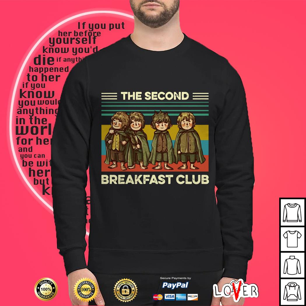 The Fellowship The Second Breakfast Club vintage Sweater
