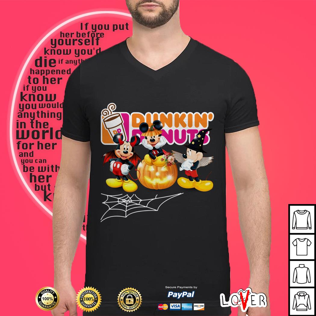 Halloween Dunkin' Donuts Mickey Mouse shirt