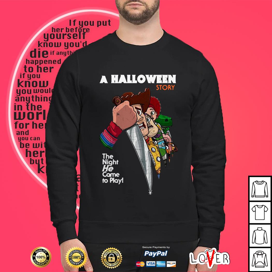 A Halloween story the night he come to play Sweater