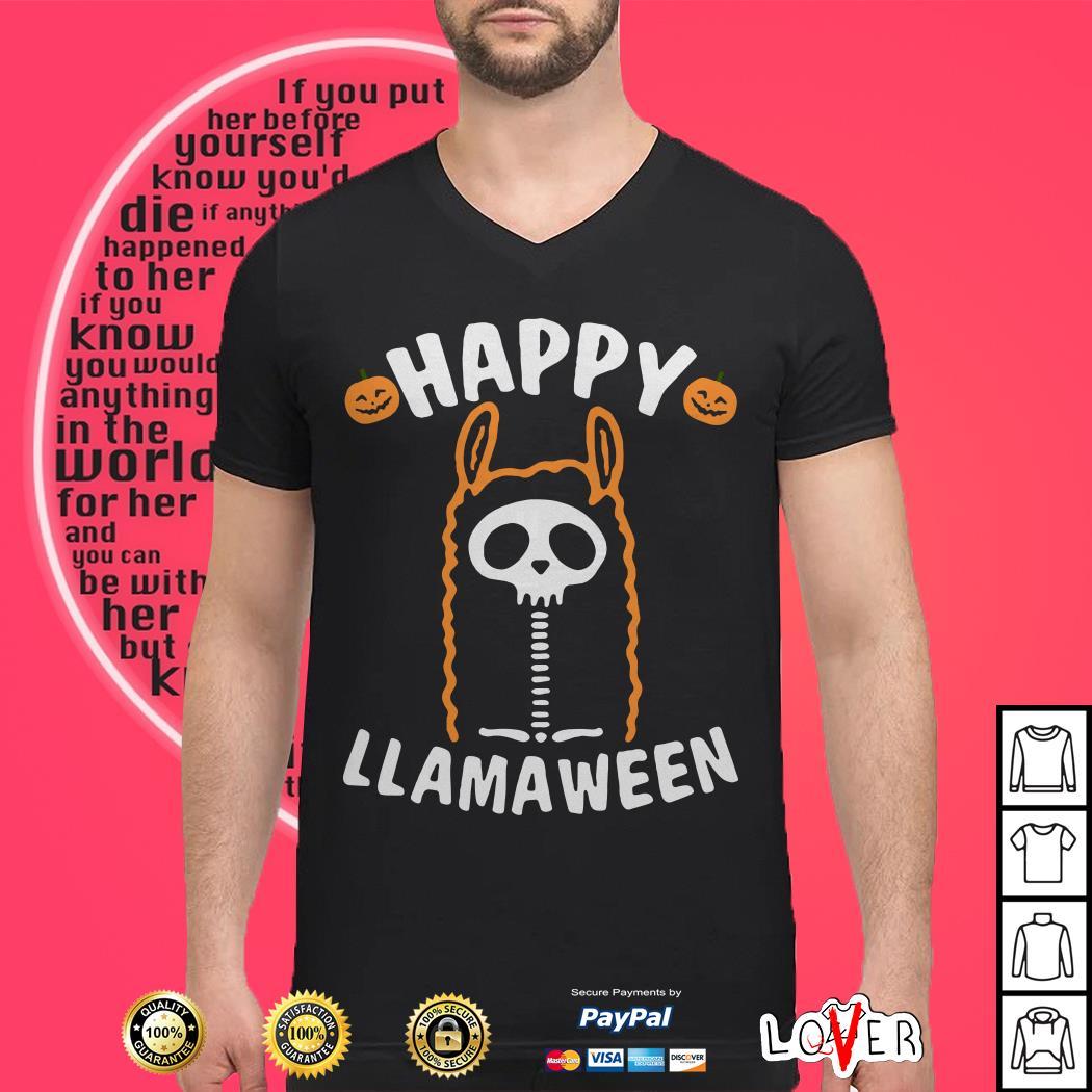 Happy Llamaween Halloween shirt