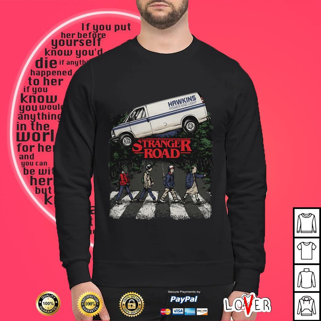 Hawkins power and light Stranger Road Stranger Things Sweater