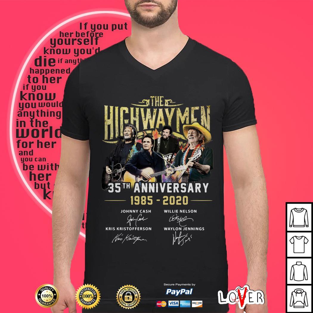 The Highwaymen 35th anniversary 1985 2020 signature shirt