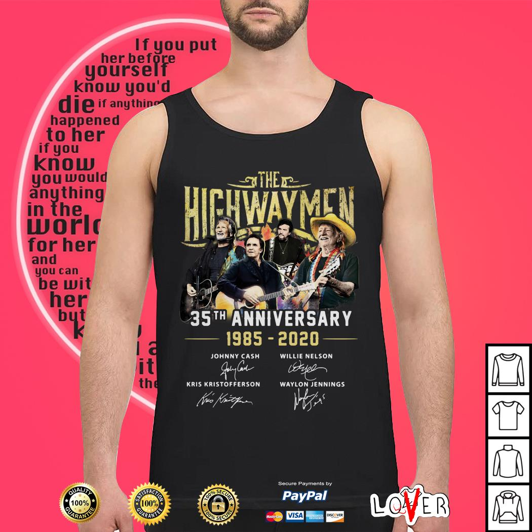 The Highwaymen 35th anniversary 1985 2020 signature Tank top