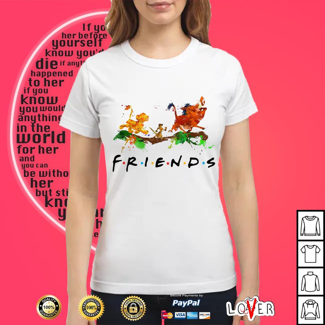 The Lion King Simba Timon Pumbaa friends Ladies tee