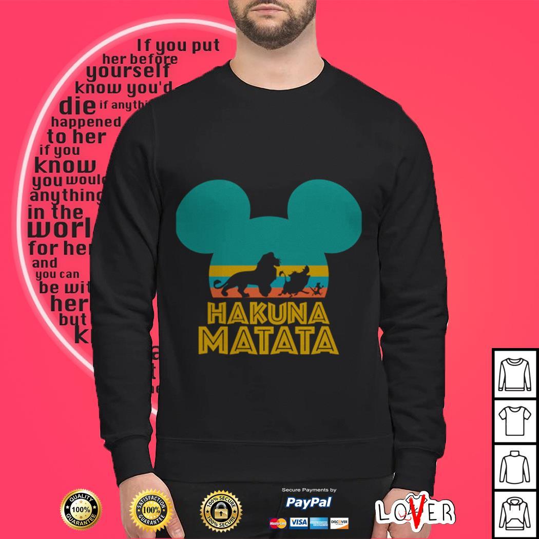Mickey Disney Lion King Hakuna matata vintage Sweater