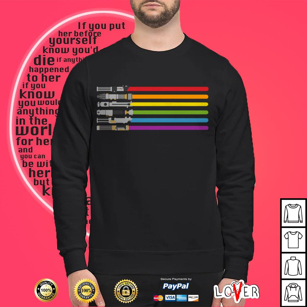 Official Lightsabers Star Wars Inspired LGBT Pride Sweater