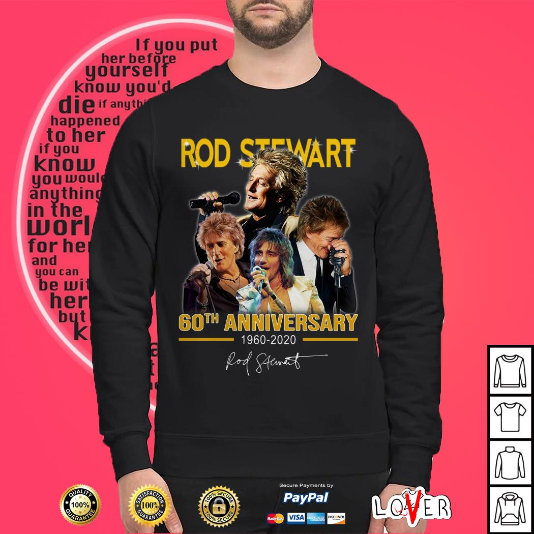 Rod Stewart 60th anniversary 1960-2020 signature Sweater