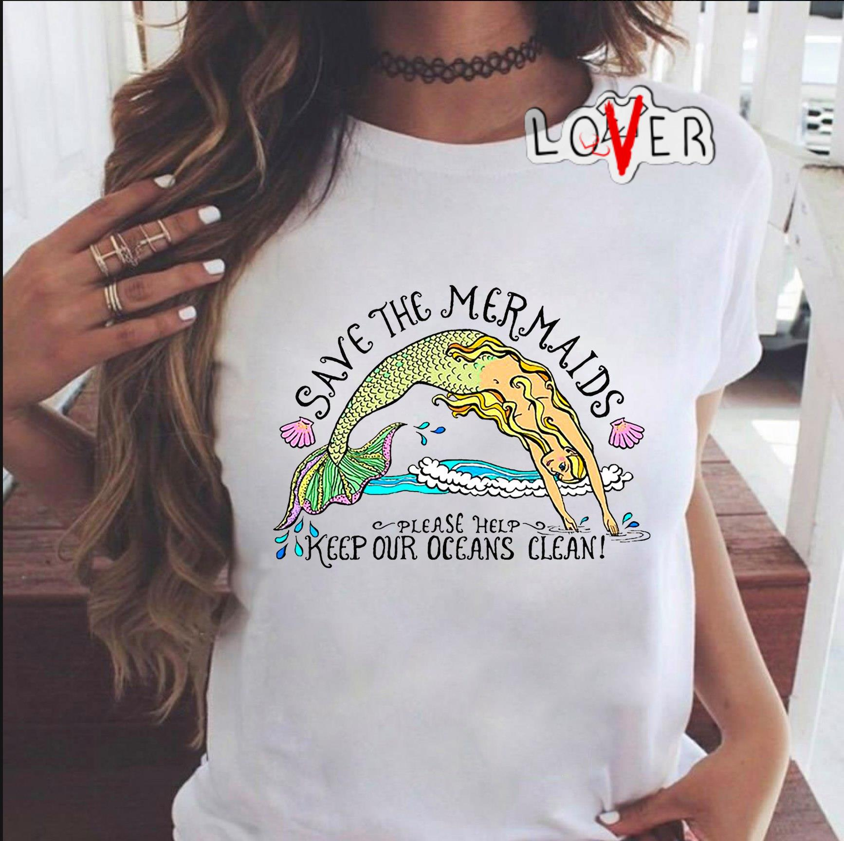Save the Mermaids please help keep our oceans clean shirt