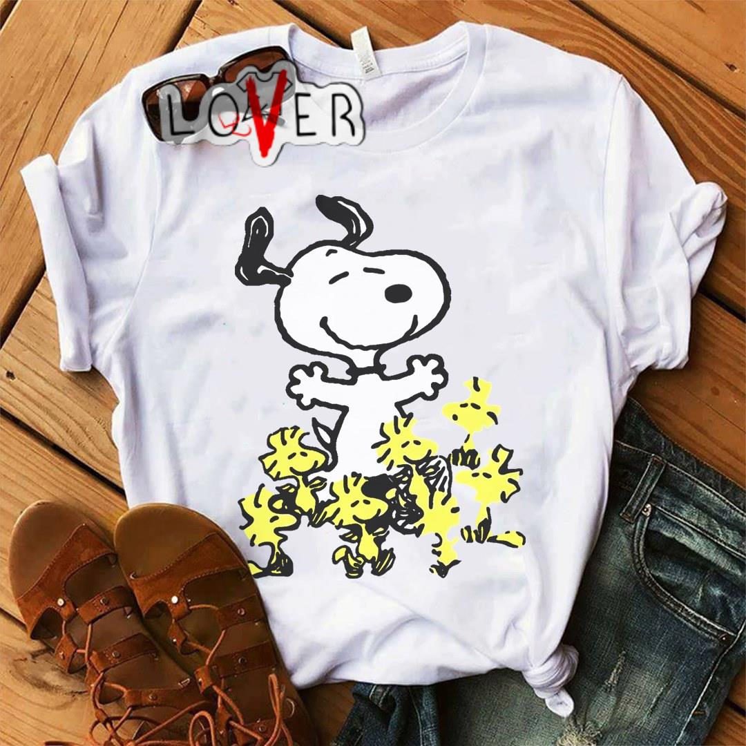 Snoopy I love Woodstock friends shirt