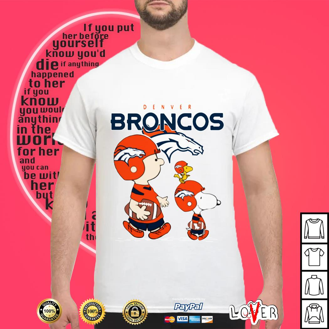 Snoopy and woodstock Denver Broncos shirt